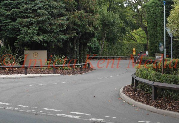 PIC SOWS:- the entrance to Chelsea FC training ground, Cobham, Surrey.