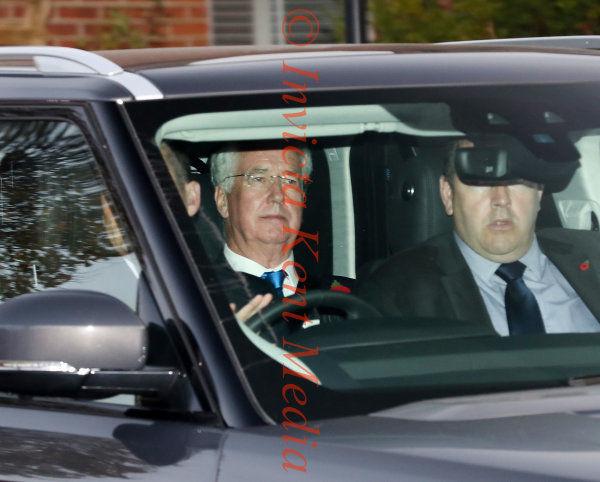 PIC SHOWS:Michael Fallon arrives at Sevenoaks District Council Offices 3.11.17