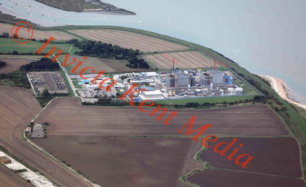 PICS SHOWS; Aerial pics of Bradwell Nuclear power station, a disused Magnox power station located on the Dengie peninsula at the mouth of the River Blackwater, Essex. UK