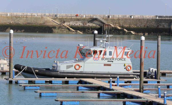 PIC Shows:- Border Patrol boat EAGLE, seen in Ramsgate Harbour, Kent, 11.10.16