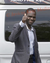 PIC SHOWS:TAbdul Haroun  who walked Thru the Channel Tunnel leaves Canterbury Crown Court Today a free man.