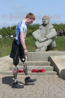 PIC SHOWS:-Help for Heroes bike ride stopped at The Battle of Britain War memorial at Capel Le Ferne nr Folkstone