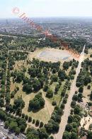 PIC SHOWS:- aerial pics of Kensington Gardens and pond