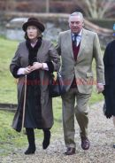 Lord Sam Vestey and wife at Flitcham Church on the Sandringham Estate, UK