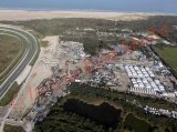 PIC SHOWS;Aerial pictures of the Jungle in Calais showing it Beginning to be Demolished