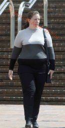 PICS SHOWS; Joanne Berry outside Maidstone Crown Court .On triol for a sexual offence.