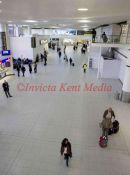 PIC SHOWS.GATWICK AIRPORT SOUTH TERMINAL ARRIVALS ,SCENE TODAY DURING STRIKE ACTION