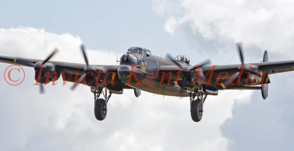 PICS SHOWS.; Avro Lancaster PA474 from the Battle of Britain Memorial Flight, seen over Biggin Hill, Kent