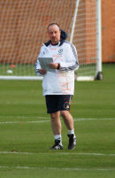 Chelsea training ground, UK,  Rafa Benitez at training,