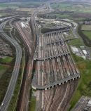 Aerial pic of channel tunnel complex