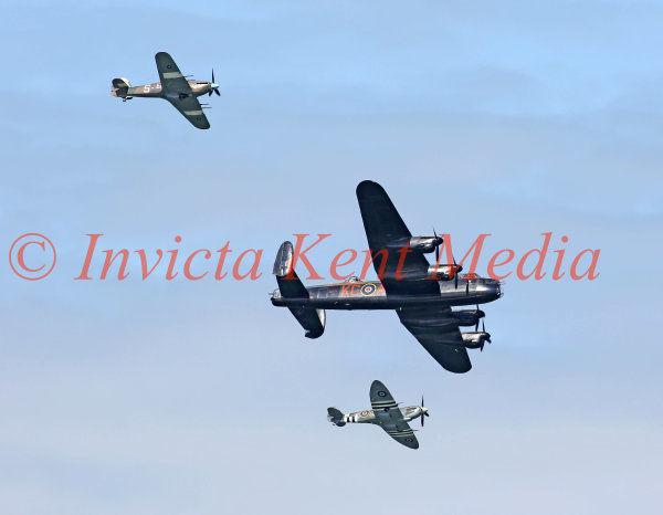 PIC SHOWS:- Battle of Britain Memorial Flight at Herne Bay airshow, Kent 14.8.16