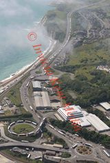 PIC SHOWS;Aerial pictures of Traffic  at Dover Port Sunday 24.7.16 with people trying to Cross the Channel to France.