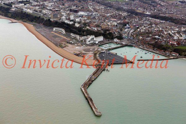 PIC SHOWS:- Aerial views of Folkestone Harbour, Kent