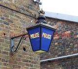 PIC SHOWS:- historic Police lantern at Chatham Historic Dockyard