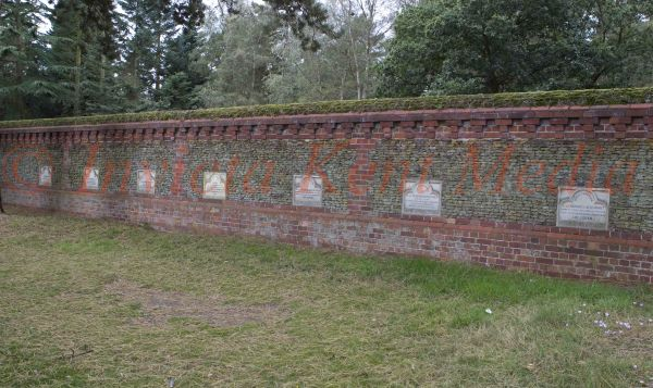 PIC SHOWS:- Grave markers and Memorials to the Royal pets buried at Sandringham. Sandrinham Estate, Norfolk,
