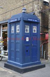 PIC SHOWS:- Police Public Call box (or TARDIS?) at Chatham Historic Dockyard