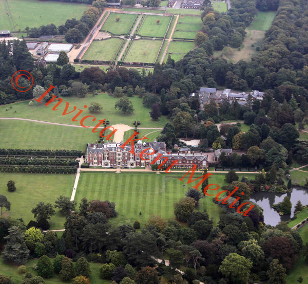 PICS SHOWS;  Aerial Views of the Sandringham Estate  Sandringham Church inside the grounds of Sandringham House