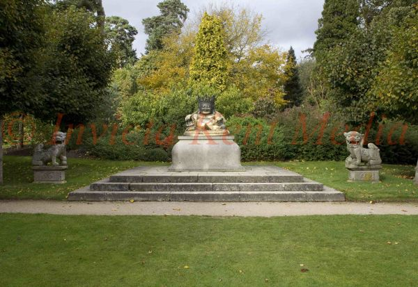 PIC SHOWS:- Buddha on the Western terrace of Sandringham. Sandrinham Estate, Norfolk,