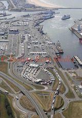 PIC SHOWS:- Aerial views of Calais harbour.