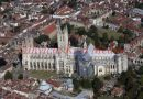 PIC SHOWS:- AERIAL VIEW OF CANTERBURY CATHEDRAL