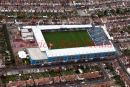 Pic shows:- aerial view of Priestfield Stadium, home of Gillingham FC, Kent