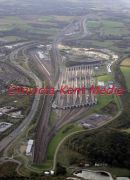 Aerial pic of the English Channel Tunnel complex