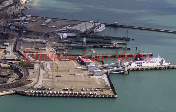 PIC SHOWS;aerials kent views. Port of Dover