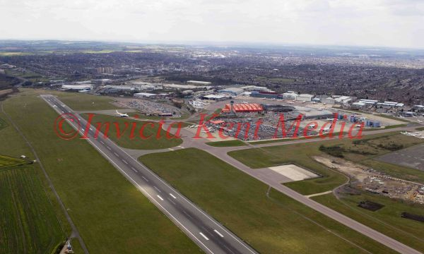 Aerial photos of Luton airport, UK