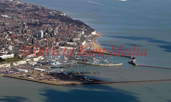 PIC SHOWS;aerials kent views. RAMSGATE PORT