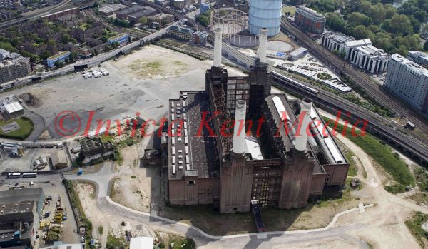Aerial photo of Battersea Power station