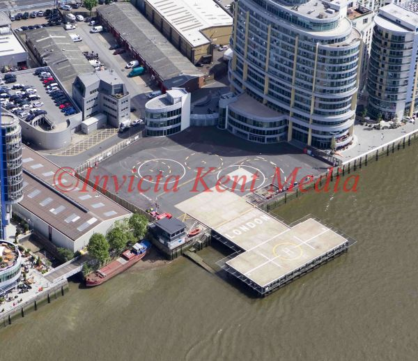 Aerial pic of Battersea Heliport