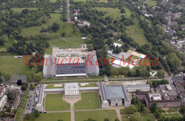 Aerial photo of the new dressage and show jumping stadium in Greenwich, London