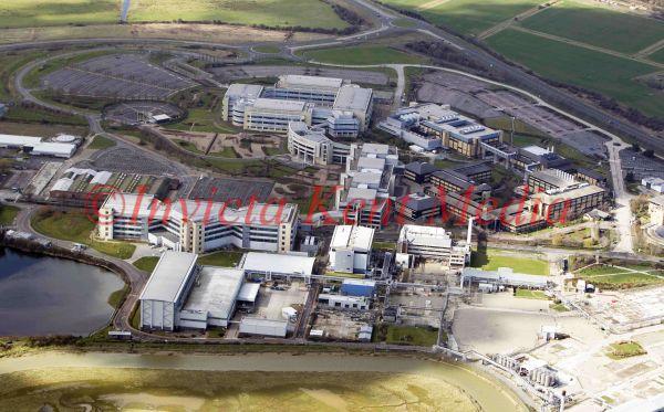 PIC SHOWS;aerials kent views. Pfizer complex, Sandwich