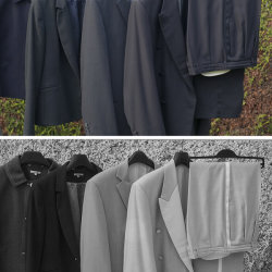 """A selection of """"black"""" fabrics in visible light and IR."""