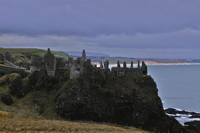 Cliff Top view of Dunluce Castle