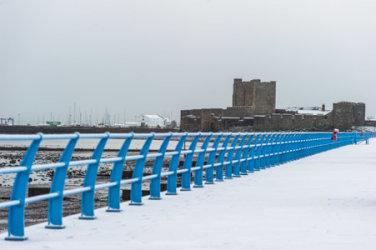 Carrickfergus in Snow