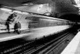 In the metro