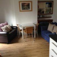 Open plan kitchen and lounge of this great 4 bed Loughborough student house.