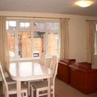 Dining area of Loughborough apartments in BedfordCourt.