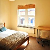 Modern double bedroom in this 4 bed student house to let in Loughborough.