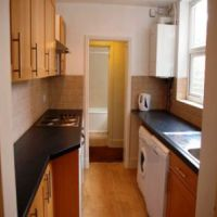 Kitchen in this student house close to Loughborough University.