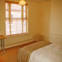 Double bedroom with modern IKEA furniture, Loughborough student houses.