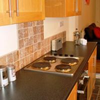 Modern kitchen in a great 4 bed Loughborough student house.