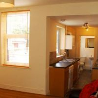 Open plan kitchen, modern Golden triangle 4 bed Loughborough student let.