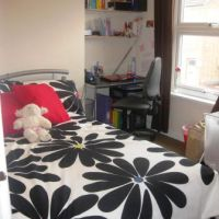 Typical bedroom in 5 Paget Street, Loughborough golden triangle four bed houses. Great student accommodation location to let to groups of 4.