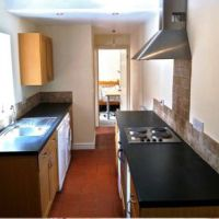 Modern fitted kitchen, 18 Hastings Street student house in Loughborough.