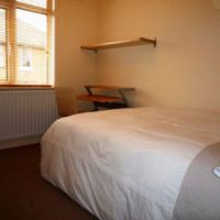 Large double bed, 21 Radmoor Road Loughborough student house.