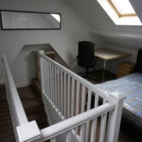 Large double attic bedroom of 56 Broad Street Loughborough student house.