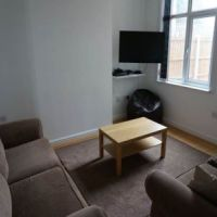 Lounge of 56 Broad Street Loughborough student accommodation.