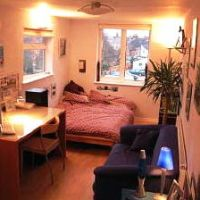 Typical bedroom in 7 Rectory Road, Loughborough 6 bed student houses.
